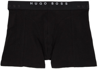 BOSS Two-Pack Blue and Black Print Boxer Briefs
