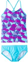 Nike Swimwear Girls' Graphic Crossback Tankini Set (714) - 8152348