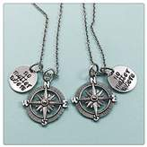 Happiness Home Silver Ancher Compass Necklace Personalized, Compass Initial Necklace silver ...