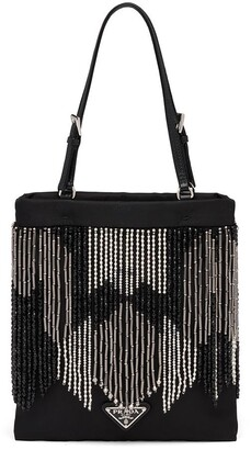 Prada Fringed Beaded Tote Bag
