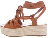 Sigerson Morrison Cosie Ankle Tie Wedge Sandals w/ Tags