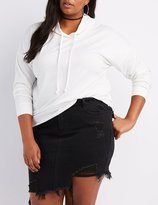 Charlotte Russe Plus Size Cropped Drawstring Hoodie
