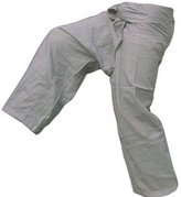 Mr. Thai Thai Fisherman (yoga/massage) pants- 100% cotton (Grey color)