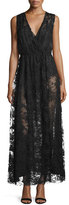 ADAM by Adam Lippes Sleeveless V-Neck Chantilly Lace Gown, Black