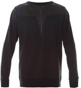 Marcelo Burlon County of Milan Pando faux-leather appliqué sweatshirt