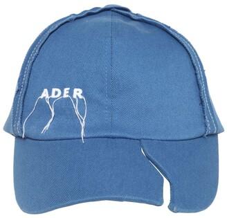 Ader Error Logo Stitch Destroyed Cotton Canvas Cap