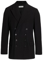 Thumbnail for your product : Dries Van Noten Browery Wool-Blend Double-Breasted Jacket