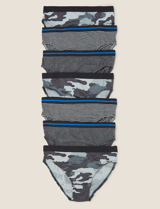 Marks and Spencer 7pk Pure Cotton Patterned Briefs (2-16 Yrs)