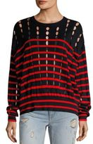 Alexander Wang T by Striped Cotton Pullover