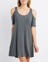 Charlotte Russe Cold Shoulder Swing Dress