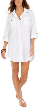 Thumbnail for your product : Dotti Travel Muse Cotton Shirtdress Cover-Up Women's Swimsuit