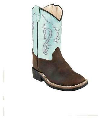 Oldwest Old West Youth's Broad Square Toe Boots