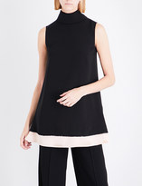 Roksanda Althea high-neck sleeveless silk top