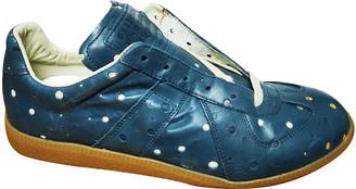 Maison Margiela Replica Blue Leather Trainers