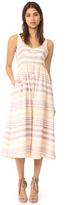 Mara Hoffman Button Front Midi Dress