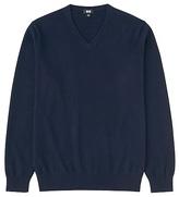 Uniqlo Men 100% Cashmere V Neck Sweater