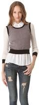 Ami Dans La Rue Soft Colorblock Pullover