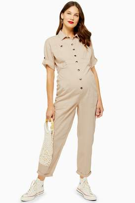 Topshop Womens **Maternity Utility Boiler Suit - Ecru