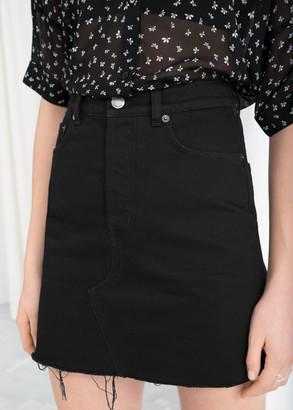 And other stories Raw Edge Denim Mini Skirt