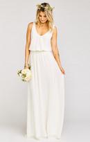 MUMU Kendall Maxi Dress ~ Wedding Cake Chiffon