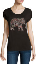 i jeans by Buffalo Short Sleeve Elephant Screen Tee
