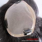 """oyene men's wig toupee mono base hair replacement 7""""x9"""" 8""""x10"""" Can add grey hair"""