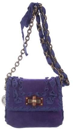 Lanvin Mini Happy Suede Crossbody Bag