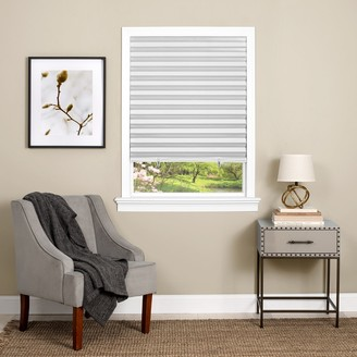 Achim Cordless 1-2-3 Vinyl Room Darkening Pleated Window Shade