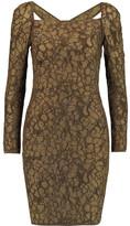 M Missoni Metallic cutout stretch-knit mini dress