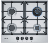 Neff T26DS59N0 FlameSelect Gas Hob, Stainless Steel
