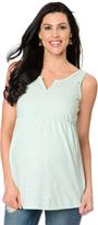 Motherhood Lace Shoulder Maternity Top