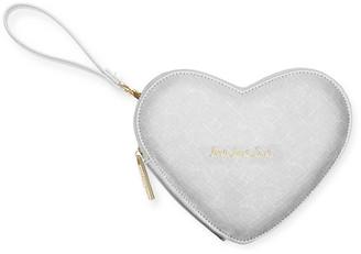 Katie Loxton - Love Heart Clutch - Silver