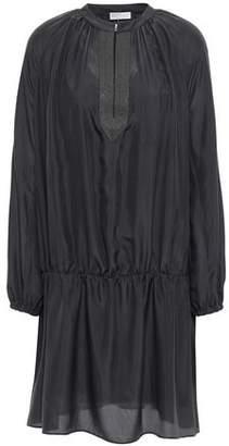 Brunello Cucinelli Bead-embellished Silk Mini Dress
