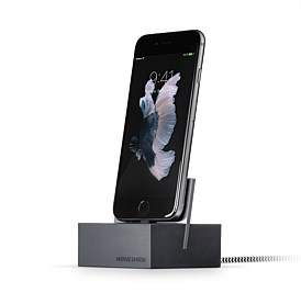 Native Union Dock For Iphone With 1.2M Lightning Cable Slate