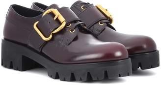 Prada Polished leather Derby shoes