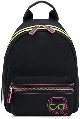Karl Lagerfeld Paris K/Ikonik neon backpack