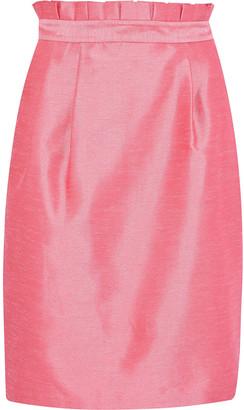 Alice + Olivia Toni Pleated Shantung Skirt