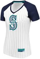 Majestic Women's Seattle Mariners Every Aspect Pinstripe T-Shirt