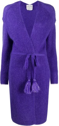 Forte Forte Knitted Wrap Cardigan With Tassel Belt