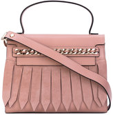 Casadei chain trim fringed front tote - women - Calf Leather/Satin/Calf Suede - One Size