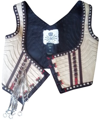 Jean Paul Gaultier Beige Linen Top for Women Vintage