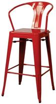 Apt2B Oxford Metal Counter Chair- Set of 4 RED