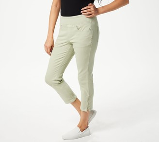 Belle By Kim Gravel Flexibelle Pull-On Cropped Jeans Petite