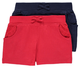 George 2 Pack Broderie Pocket Shorts