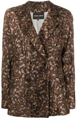 Giorgio Armani Foliage Leopard Print Blazer