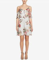 CeCe Olivia Floral-Print Cold-Shoulder Dress