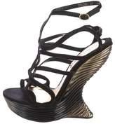 Alexander McQueen Wave Wedge Sandals