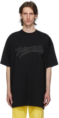 Vetements Black Hip Hop Script T-Shirt