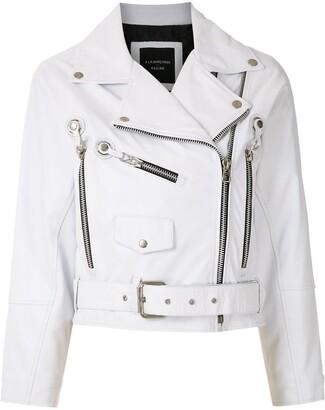 À La Garçonne Leather Cropped Jacket