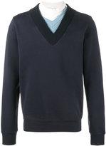 Maison Margiela layered neckline sweatshirt - men - Cotton - 46
